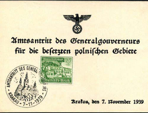Kasowniki okolicznościowe Generalnego Gubernatorstwa 1939 -1944