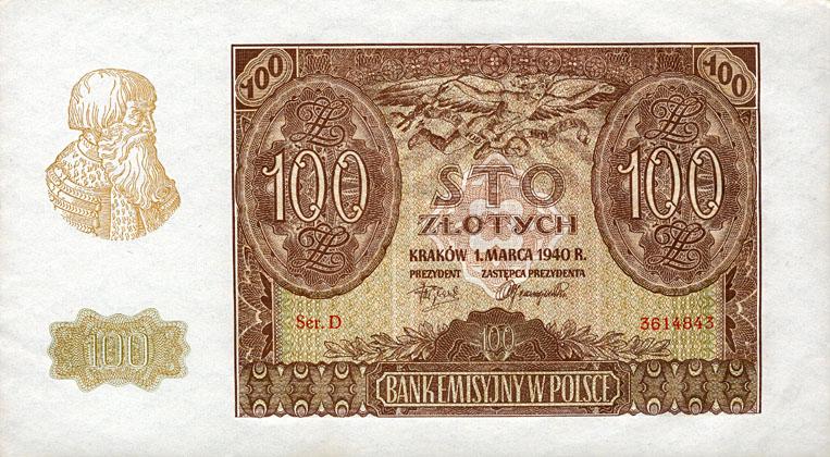 Generalna Gubernia 100zl 1940