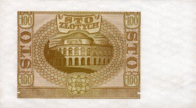 Generalna Gubernia 100zl 1940 1