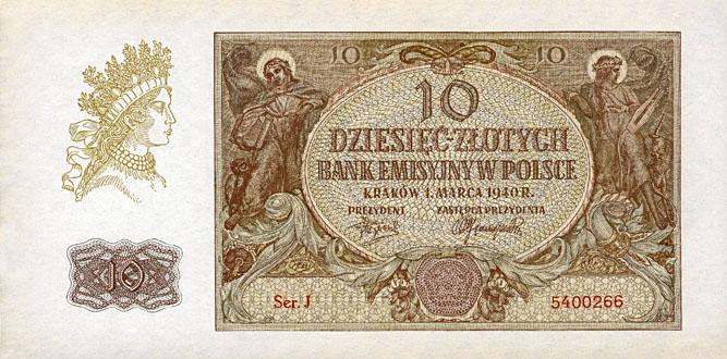 Generalna Gubernia 10zl 1940