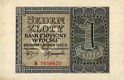 Generalna Gubernia 1zl 1940