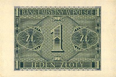 Generalna Gubernia 1zl 1940 1