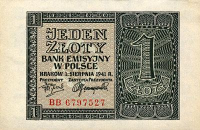 Generalna Gubernia 1zl 1941