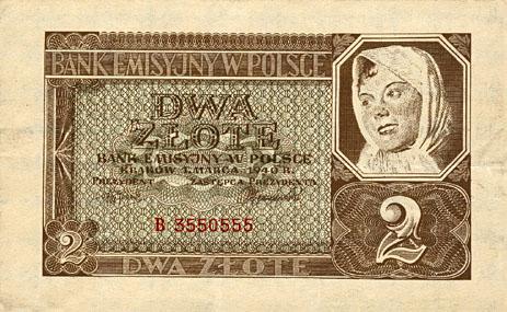 Generalna Gubernia 2zl 1940