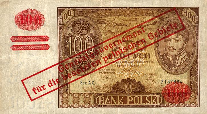Generalna Gubernia1939 100zl