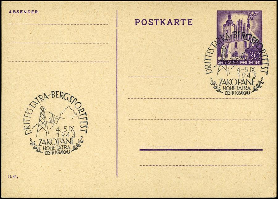 Kasownik 33 - Drittes Tatra Bergsportfest 4 - 5. IX. 1943 Zakopane