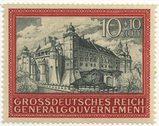 Znaczek 125 1944, 20 listopada. Znaczek z okazji 5-lecia Generalnego Gubernatorstwa