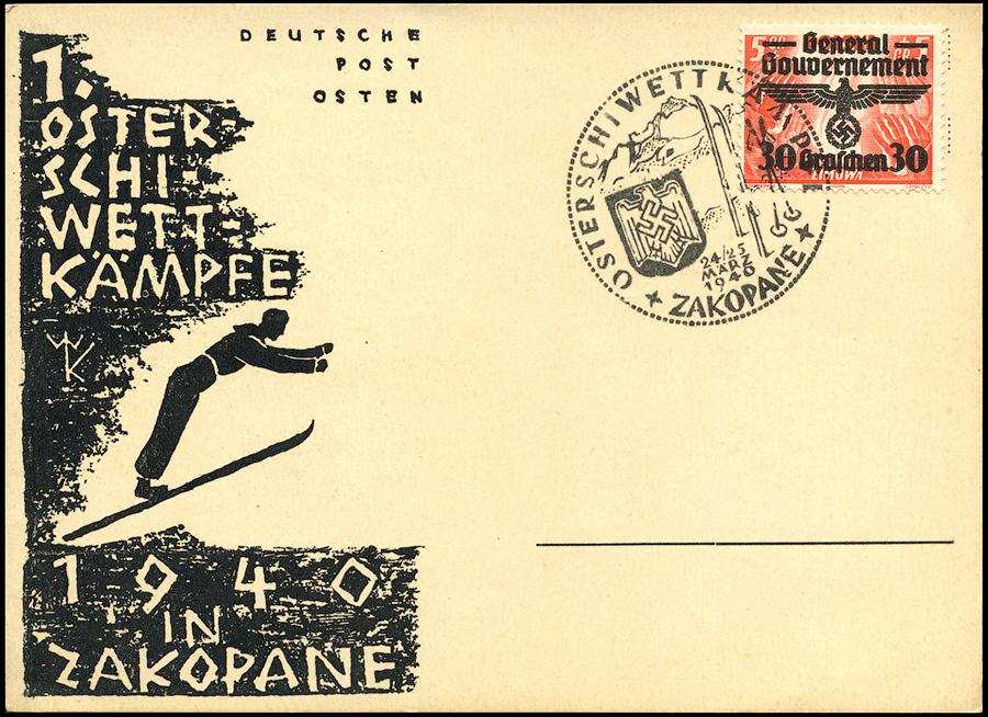 Kasownik nr 2 Osterschiwettkämpfe Zakopane 24/25 Marz 1940