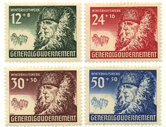 Seria 59-62 1940, 1 grudnia. Wydanie dobroczynne z dopłatą na niemiecką pomoc zimową