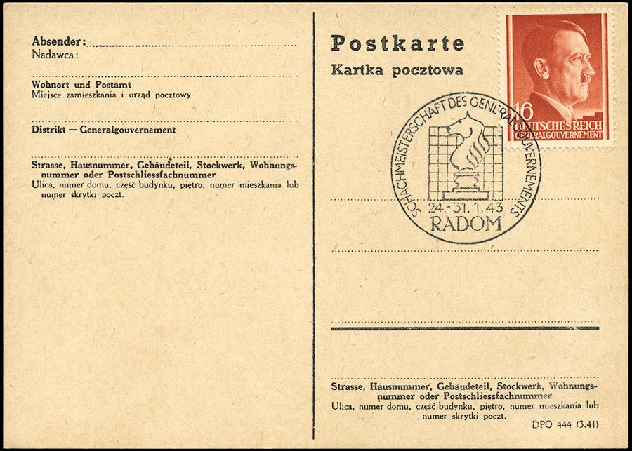 Kasownik 28 - mistrzostwa szachowe Generalnego Gubernatorstwa Radom 1943