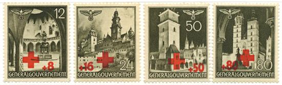 Seria 40-51 1940, 17 lipca. Wydanie okolicznościowe z dopłatą na Niemiecki Czerwony Krzyż