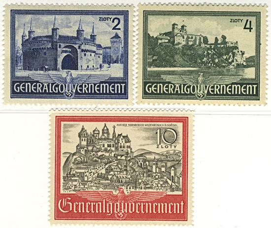 Seria 63-65 1941, 20 kwiecień. Wartości uzupełniające – widoki zabytkowych budowli