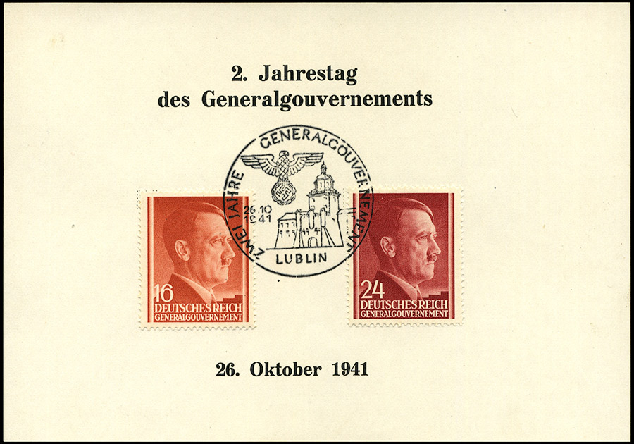 Kasownik 16 Zwei Jahre Generalgouvernement 26. 10. 1941 Lublin