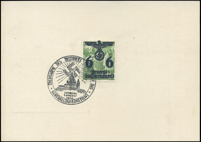 Kasownik 10 - Übernahme des Distrikts Galizien in das Generalgouvernement Lemberg 1. August 1941