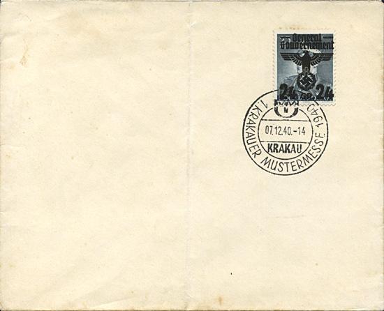 Kasownik 7 Krakauer Mustermesse 1940 Krakau