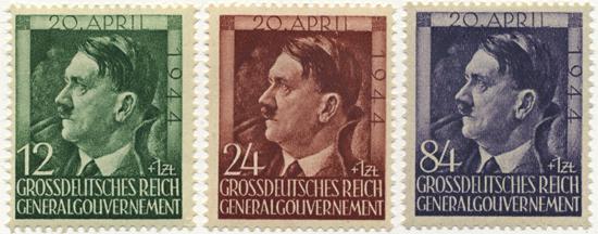 Znaczki GG Seria Fi. 117-119 1944 r. czyste * MH-0