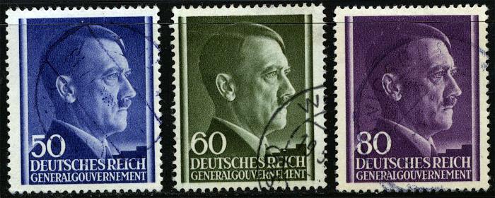 Znaczki GG Seria Fi. 110-112 1943 r. kasowane-942