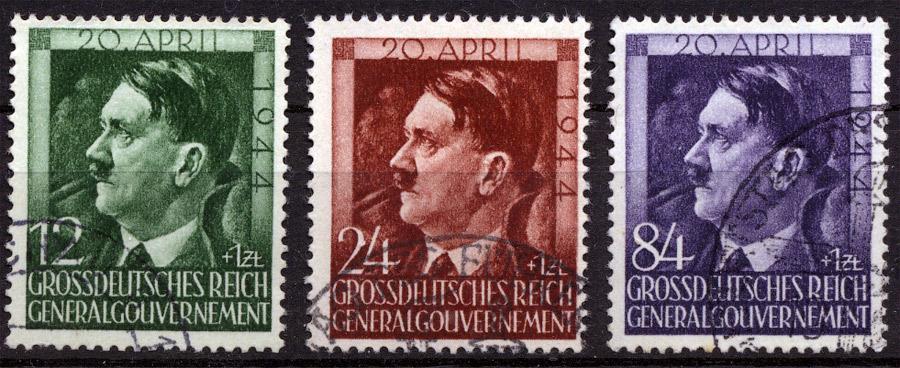 Znaczki GG Seria Fi. 117-119 1944 r. kasowane-0