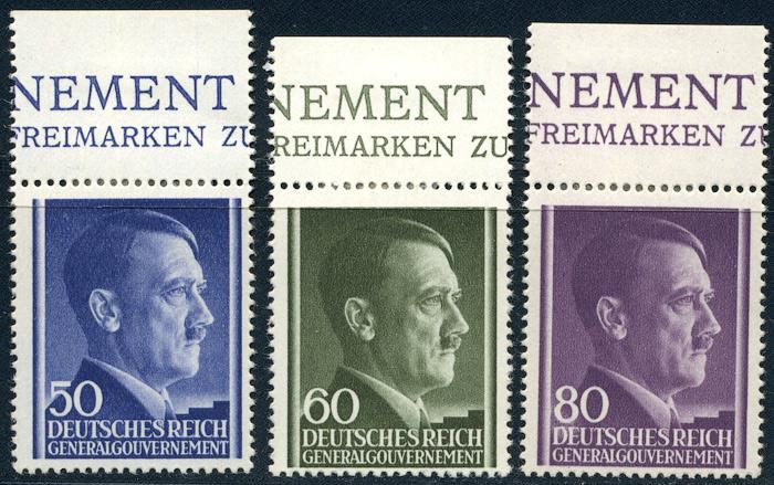 Generalne Gubernatorstwo Fi. 110-112 1943 r. czyste * MH z marginesem