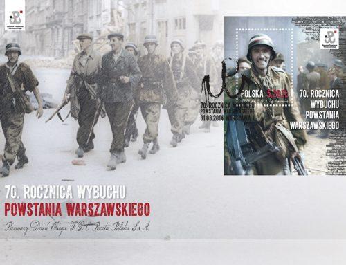 70 rocznica Powstania na znaczku pocztowym