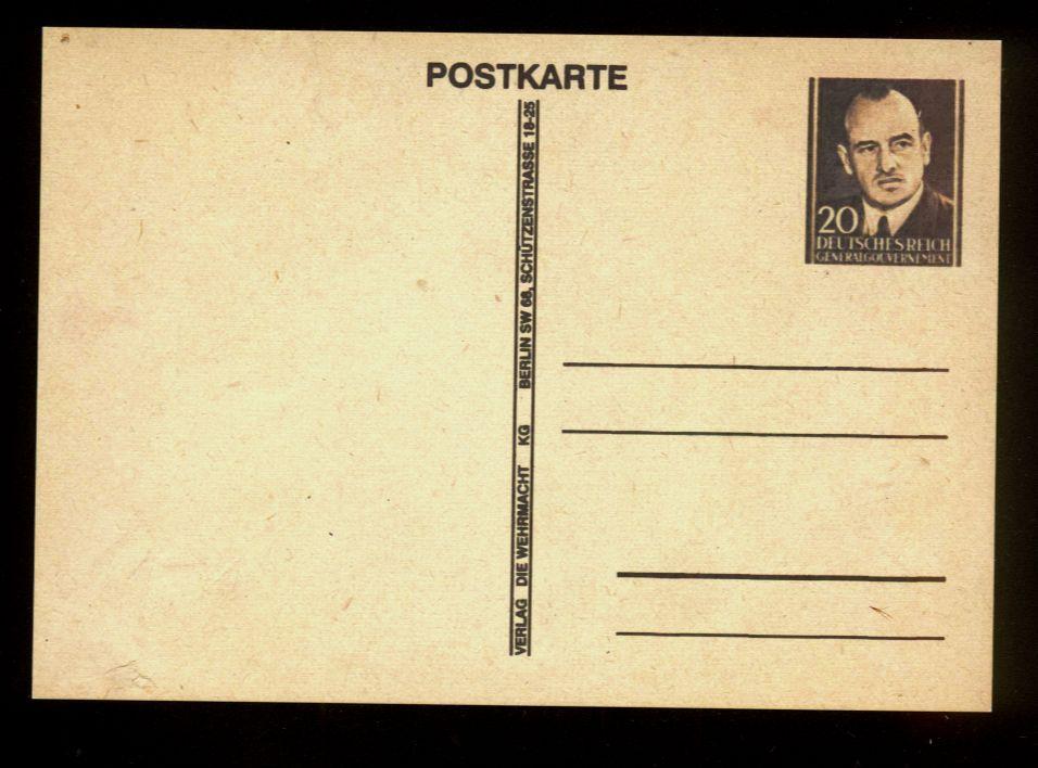 Fałszywa całostka z podobizną Hansa Franka