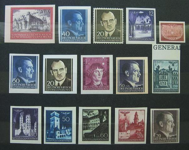 Zbiór falsyfikatów znaczków GG