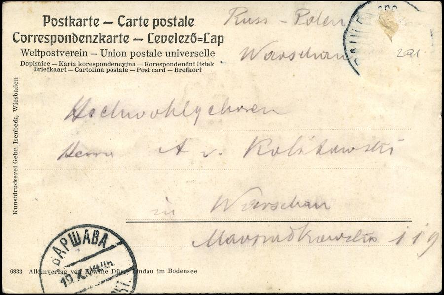 LINDAU HAFENPARTIE MIT DEM ALTEN LEUCHTTURM - 1904 JAHR-1713