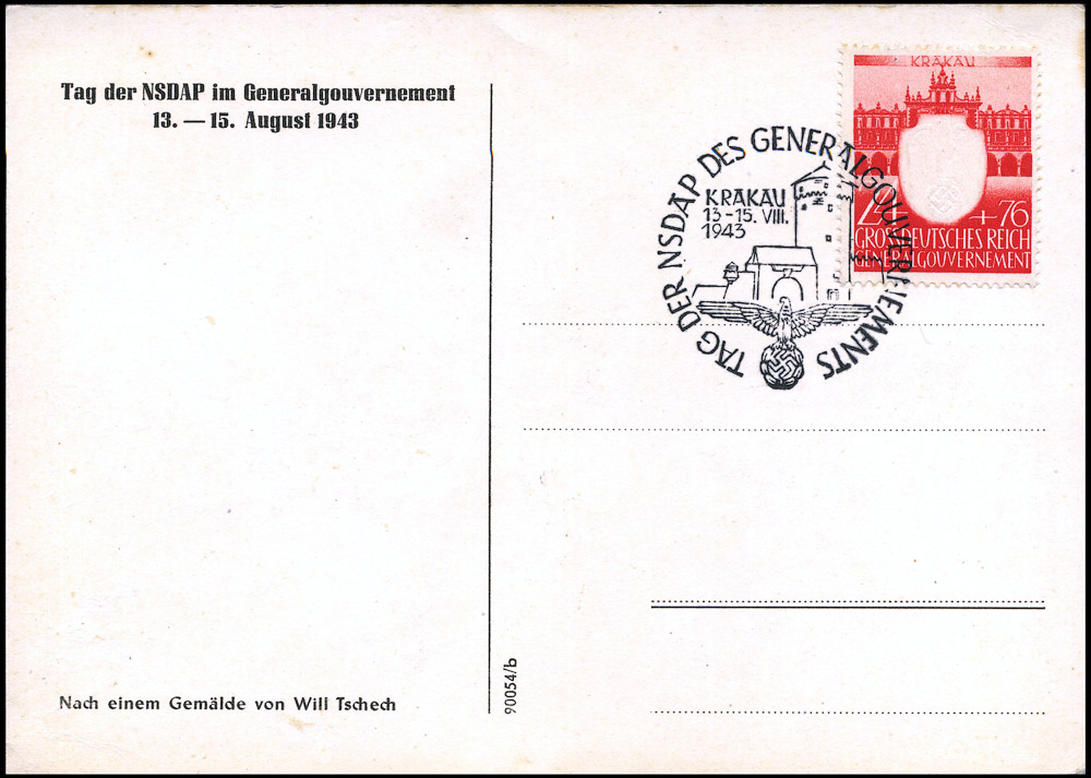 Karta propagandowa Tag der NSDAP des Generalgouvernements Krakau 13-15 August 1943r.-1534