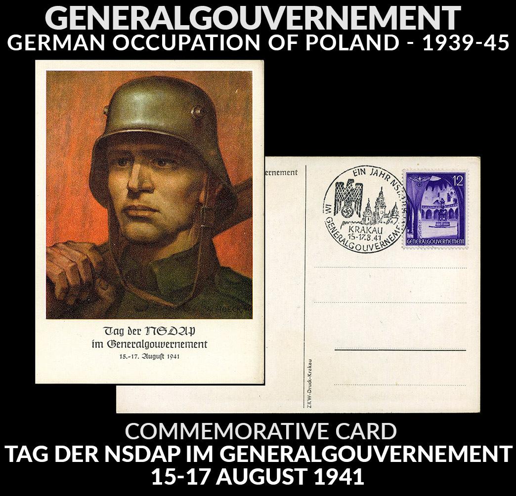 Karta propagandowa Tag der NSDAP im Generalgouvernement 15-17 August 1941r.-2717