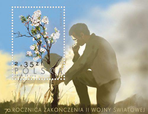 70. rocznica zakończenia II Wojny Światowej na znaczku pocztowym