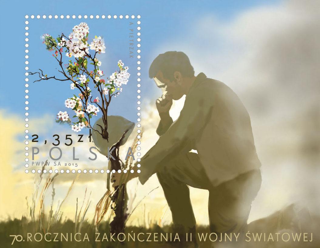 znaczek 70 rocznica zakonczenia II wojny światowej poczta polska