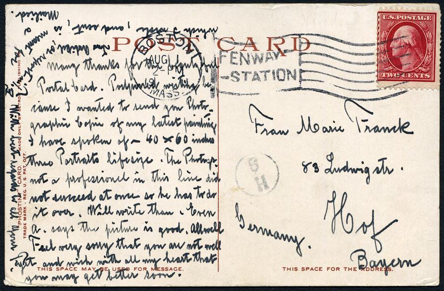 BOSTON - FRESCOS in PUBLIC LIBRARY -1.08.1911-2151