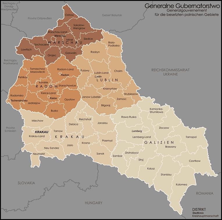 Mapa Generalnego Gubernatorstwa