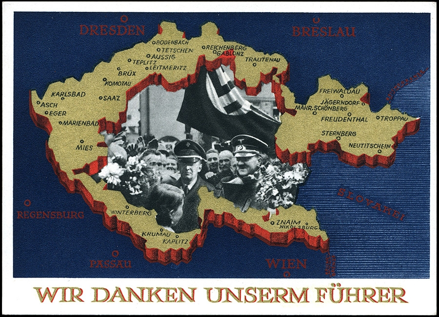 GERMANY 3rd REICH - POSTCARD Annexation of the Sudetenland 1938