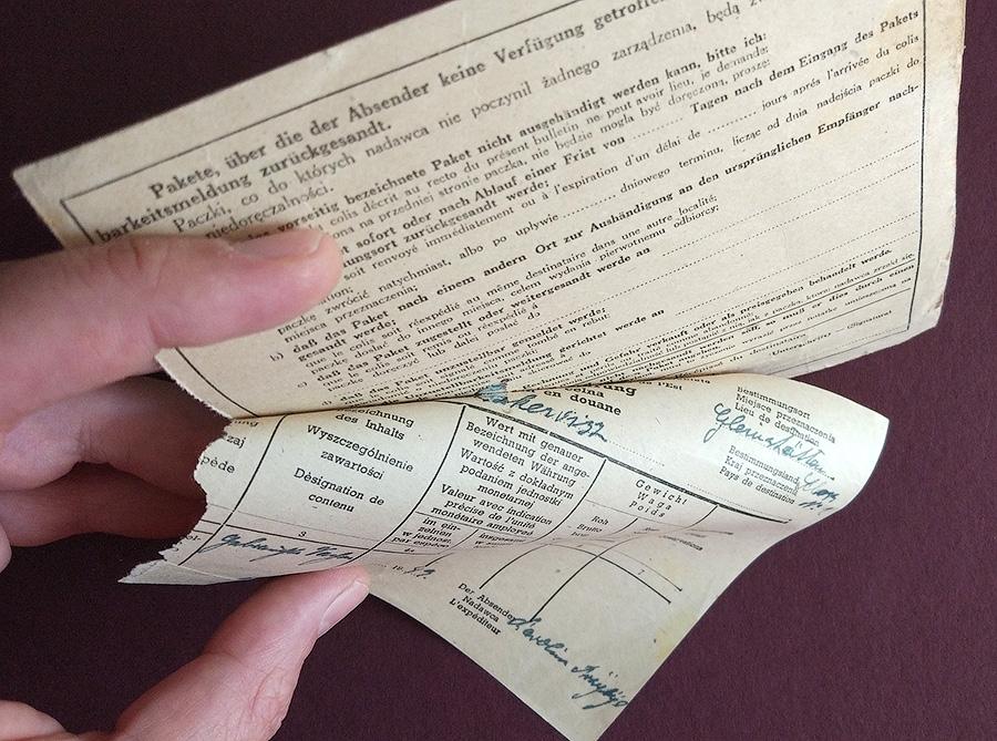 GG - PAKETKARTE - Adres pomocniczy LUBLIN - GLEINSTATTEN Zollanmeldung 1943