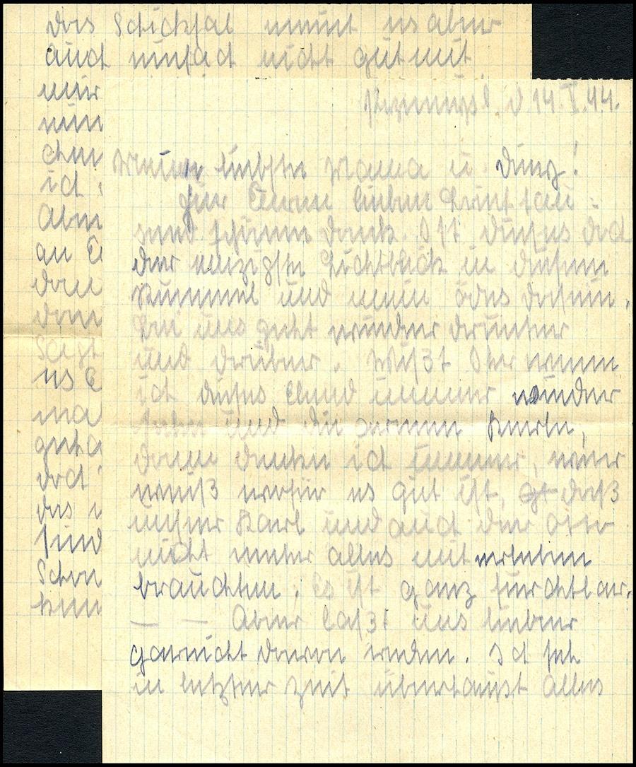 GG R-brief z listem Lazarett Przemysl - Paderborn 1944