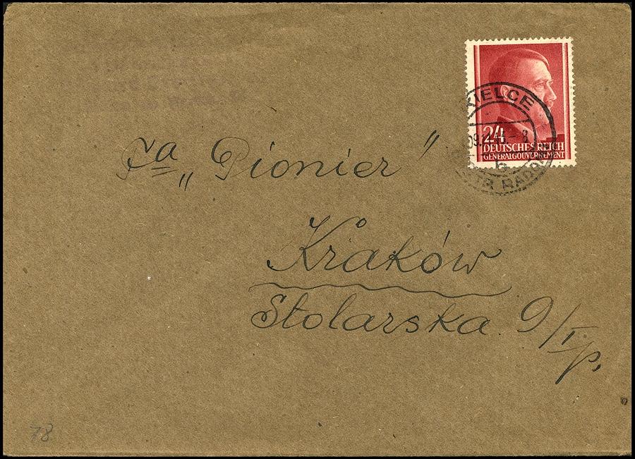 Generalgouvernement listKIELCE - PIONIER Kraków 1943