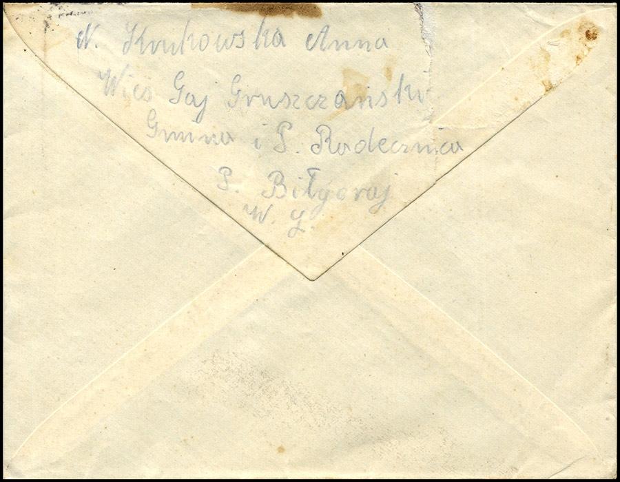 Generalguvernement - list GAJ GRUSZCZAŃSKI / ZAMOŚĆ - FROHBURG 1941