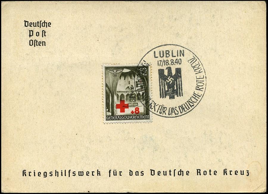 Kasownik nr 4D Kriegshilfswerk fur das deutsche Rote Kreuz 1940 Lublin