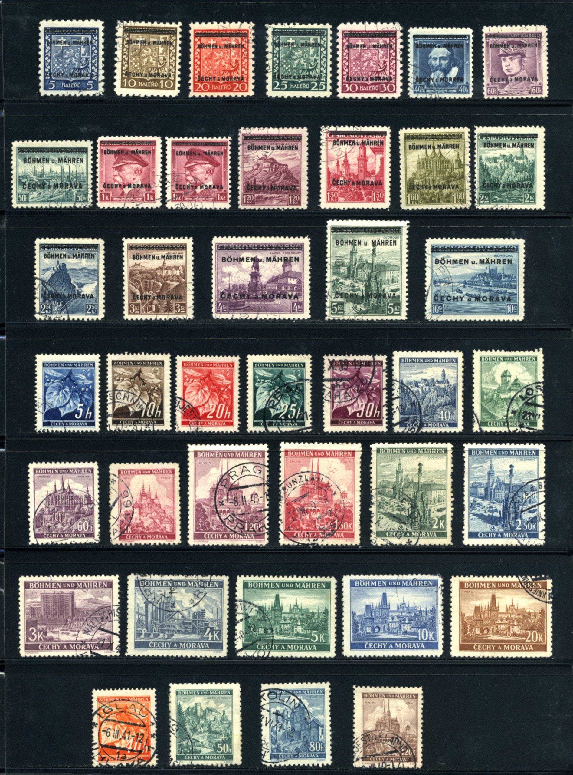Komplet znaczków Protektorat Böhmen und Mähren 1-142 All stamps USED-7026