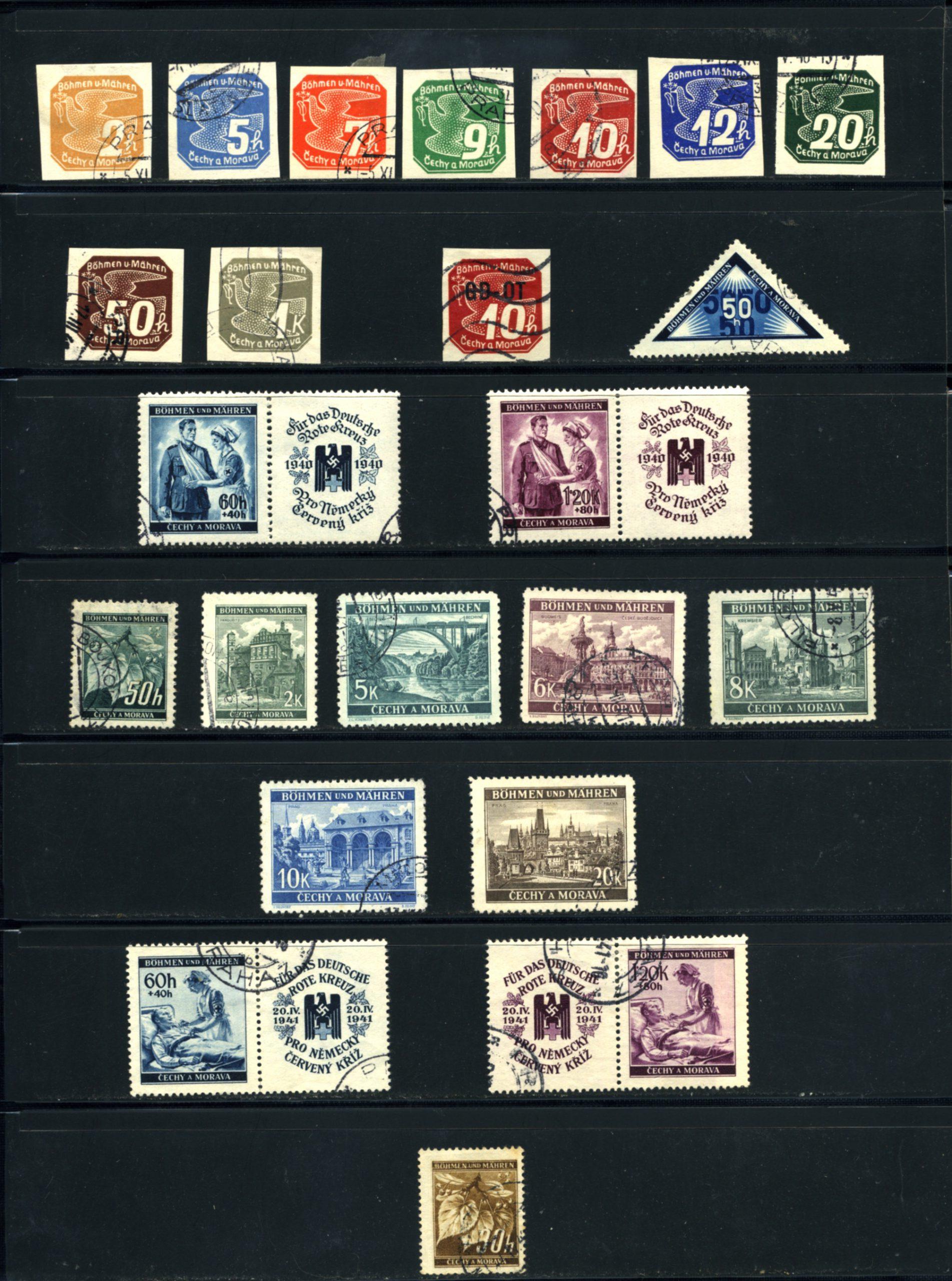 Komplet znaczków Protektorat Böhmen und Mähren 1-142 All stamps USED-7027