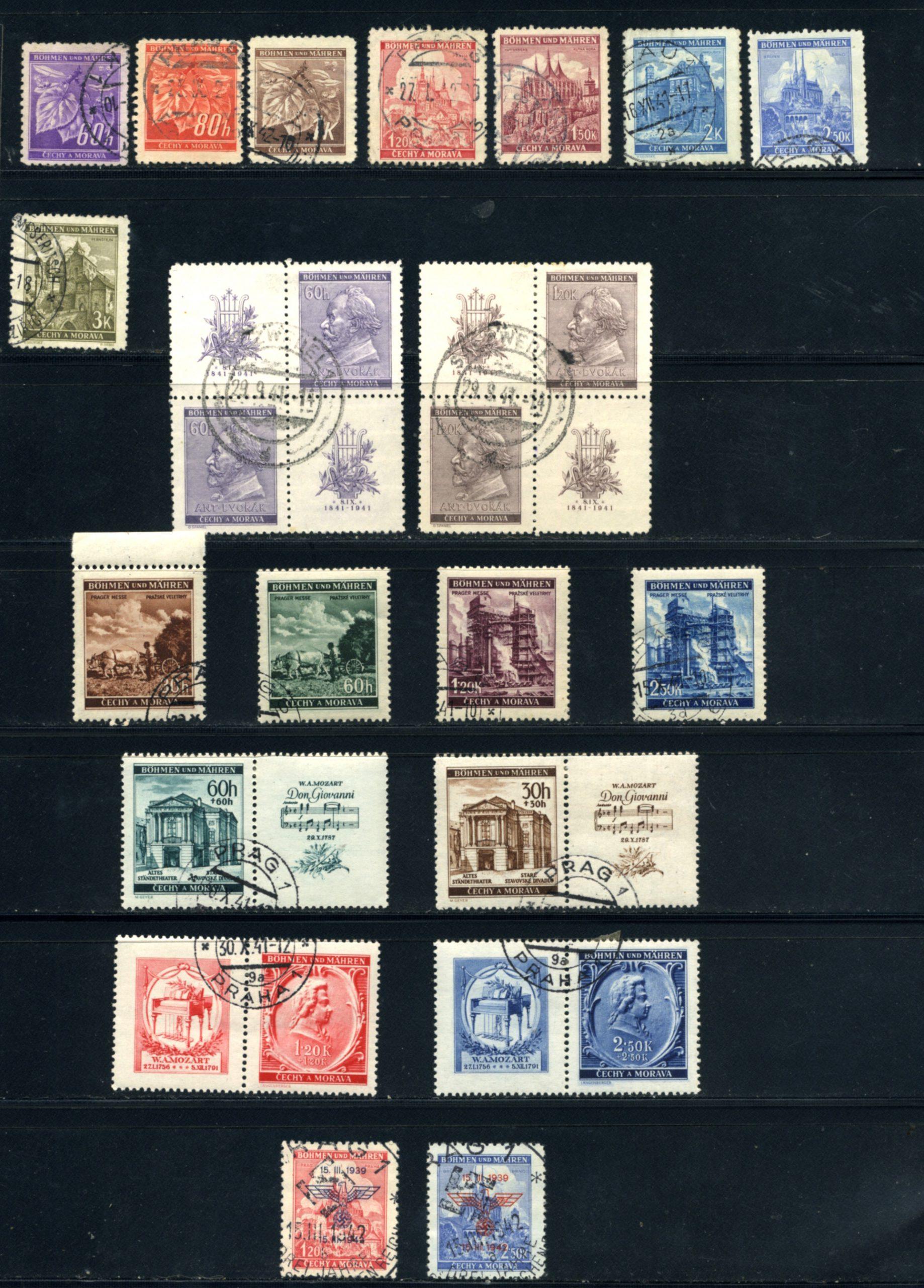 Komplet znaczków Protektorat Böhmen und Mähren 1-142 All stamps USED-7029