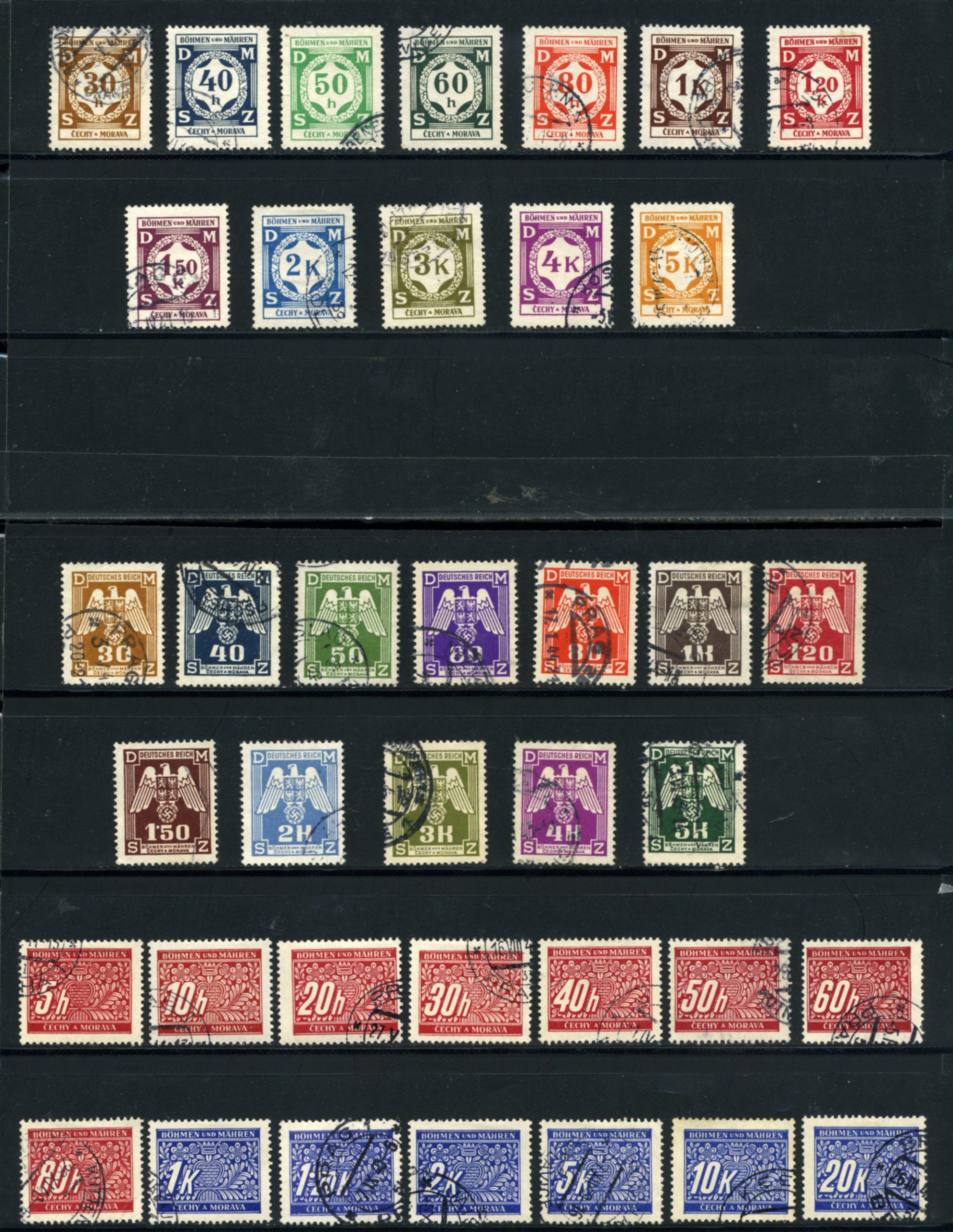 Komplet znaczków Protektorat Böhmen und Mähren 1-142 All stamps USED-7032