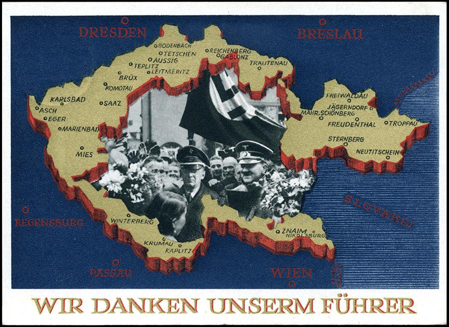 Sudetenland Ganzsache P275 1938