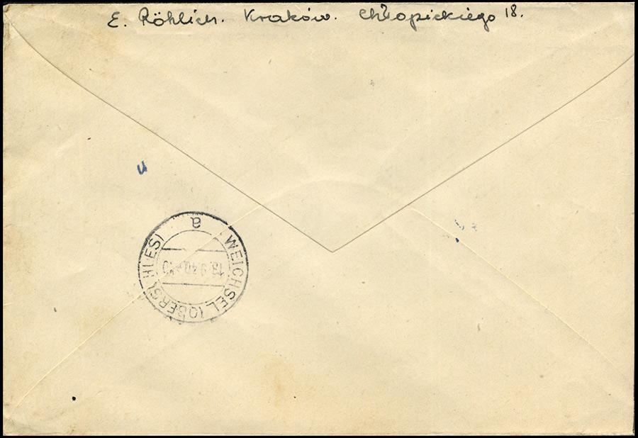 Generalgouvernement R-brief Krakau 2 - Weichsel Mi. 51 1940