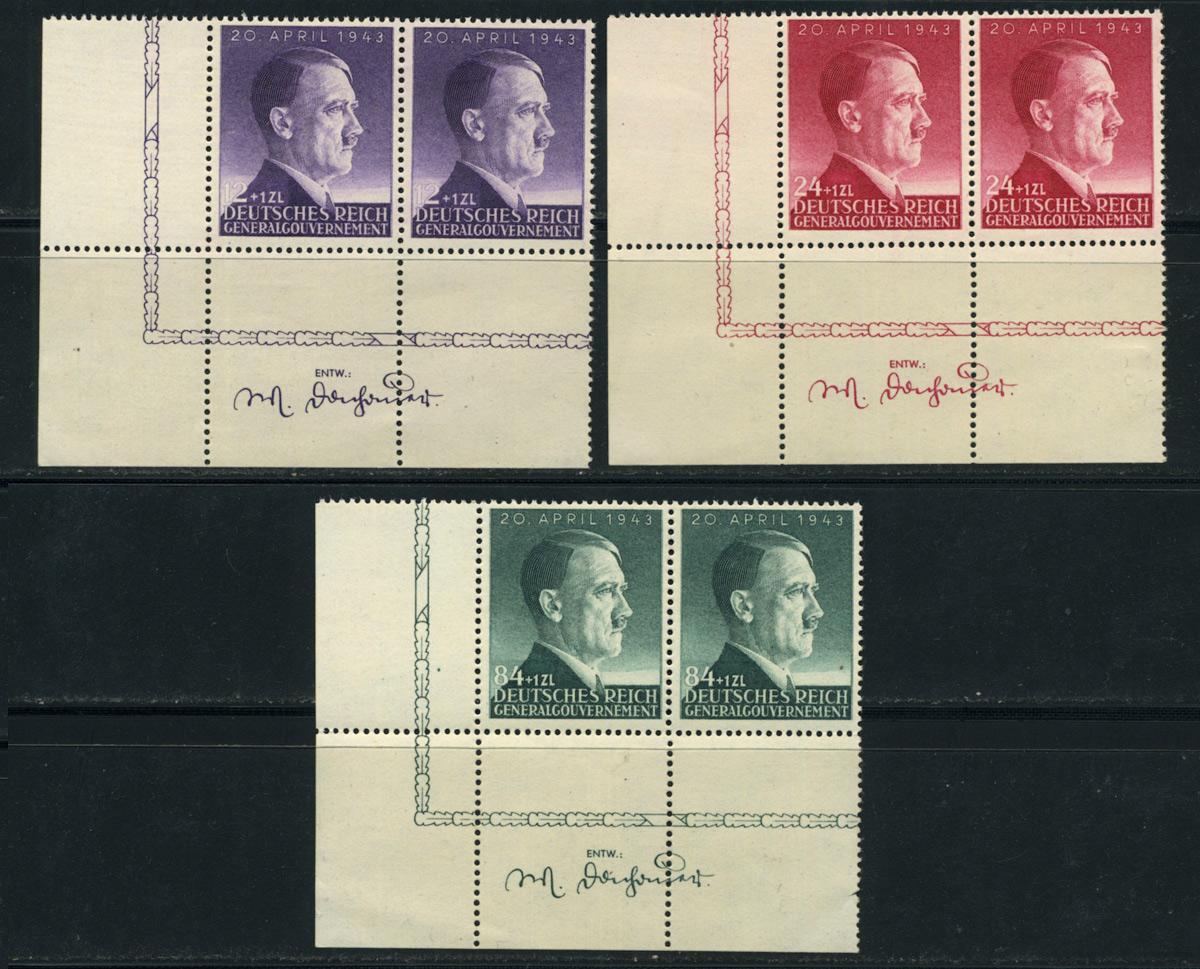Generalgouvernement Mi. 101-103 1943 r. czyste ** MNH Pw.3