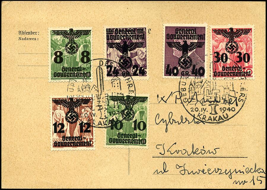 Kasownik okolicznościowy SST nr 3 Geburstag des Führers Krakau 20 IV 1940