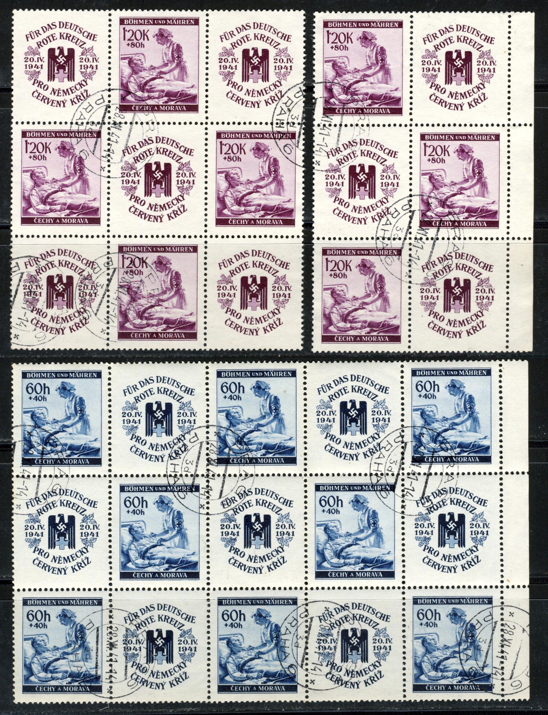 Böhmen und Mähren - Mi. 62-63 / 1941 Deutsche Rote Kreuz