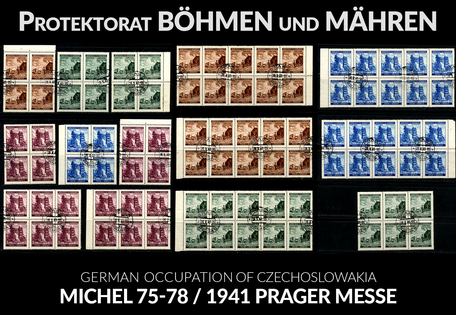 Böhmen und Mähren - Mi. 75-78 / 1941 Prager Messe