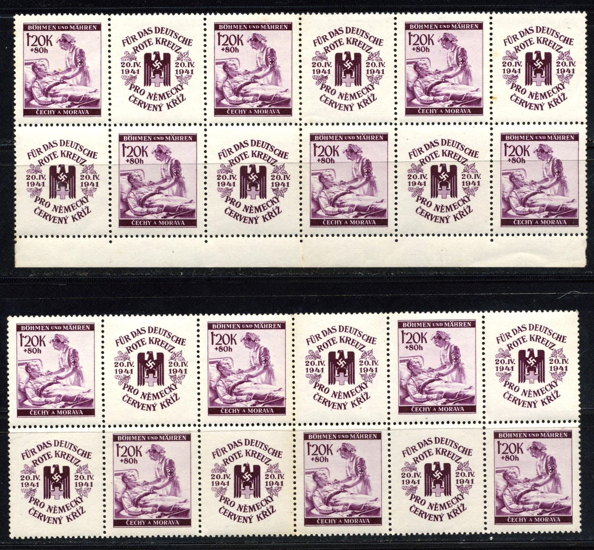 Böhmen und Mähren - Mi. 62-63 / 1941 Deutsche Rotes Kreuz MNH